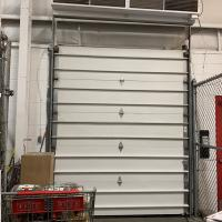 Door after repair by SMH technicians using panels from our warehouse.