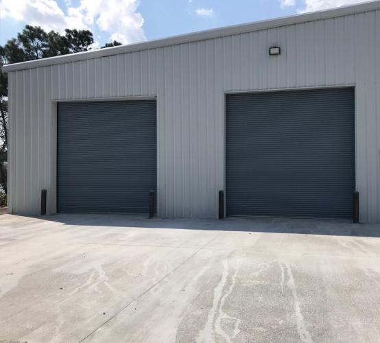 Rolling Steel Doors - Wayne Dalton, front view exterior