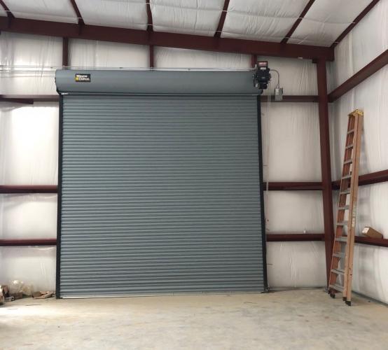 Rolling Steel Doors - Wayne Dalton, front view interior